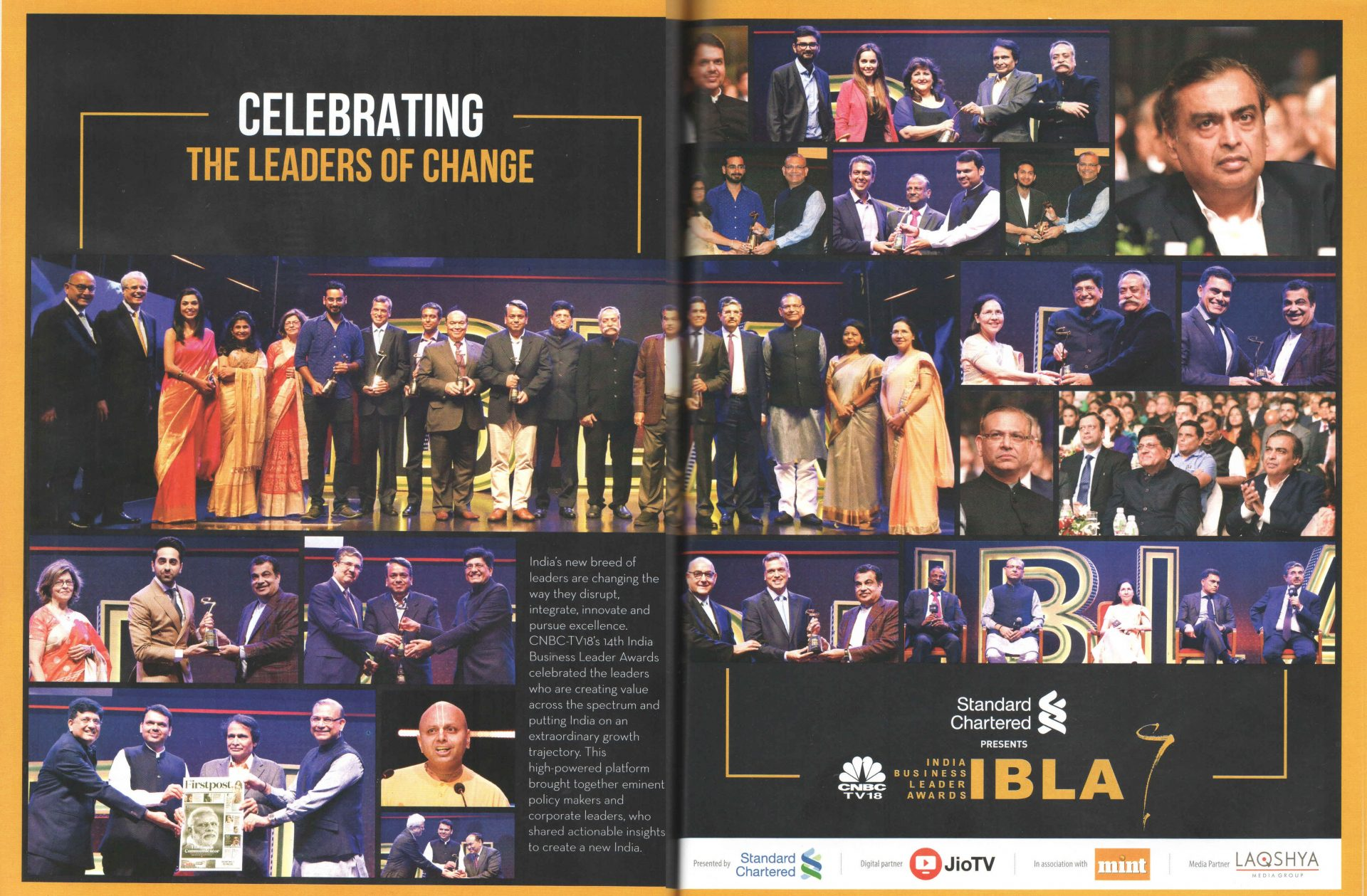 Spiritual Guru Gaur Gopal Das addressing the audience at IBLA Awards 2019