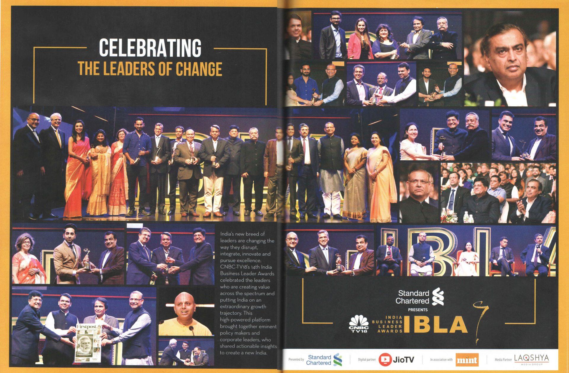 Spiritual Guru Gaur Gopal Das addressing the audience at IBLA Awards 2019